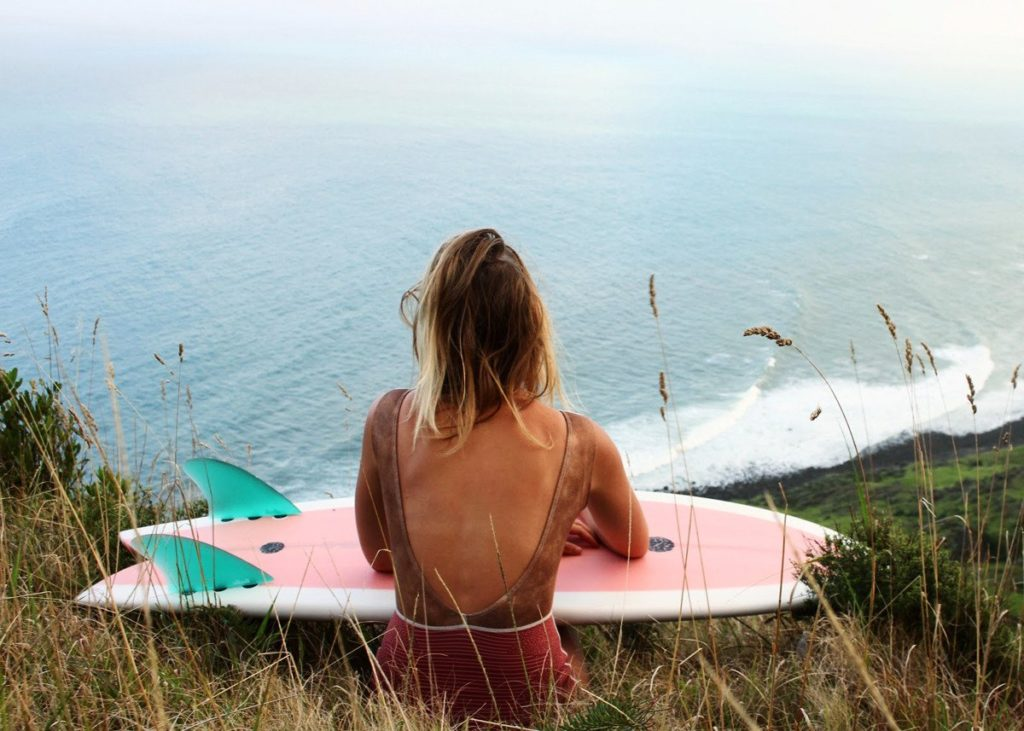 Ruby Meade, a 23-year-old surfer from the North Island of New Zealand. Photo credit: thesea.com