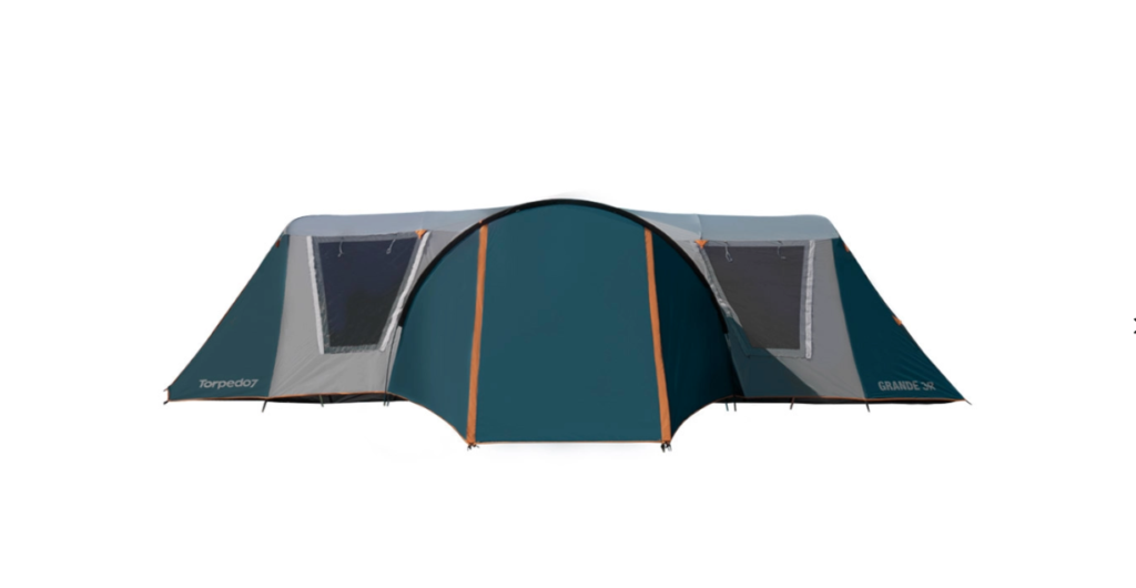 Torpedo7 Grande 3-Room Family Dome Tent